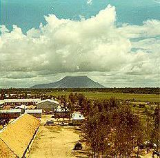 View of Nui Ba Den from ARVN Boot Camp, Ben Soi.
