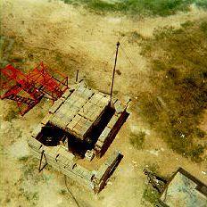 View of radar van from radar tower, Ben Soi.